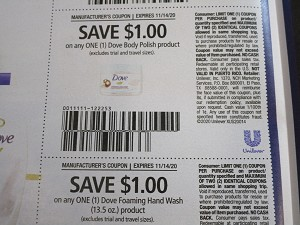 15 Coupons $1/1 Dove Body Polish + $1/1 Dove Foaming Hand Wash 11/14/2020