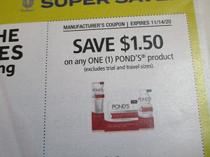 15 Coupons $1.50/1 Pond's 11/14/2020