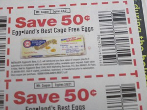 15 Coupons $.50/1 Eggland's Best Cage Free Eggs + $.50/1 Egglands Best Eggs 2/8/2021