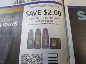 15 Coupons $2/1 Dove Men+Care Hair Care 12/19/2020