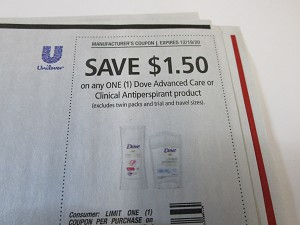 15 Coupons $1.50/1 Dove Advanced Care or Clinical Antiperspirant 12/19/2020