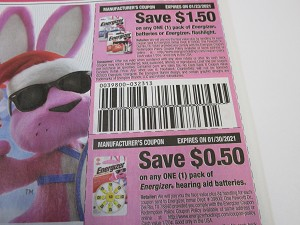 15 Coupons $1.50/1 Energizer Batteries or Flashlight + $.50/1 Energizer Hearing Aid Batteries 1/30/2021