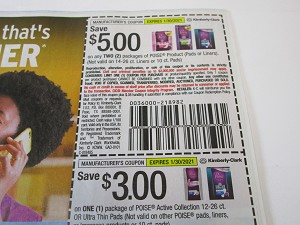 15 Coupons $5/2 Poise + $3/1 Poise Active Collection 1/30/2021