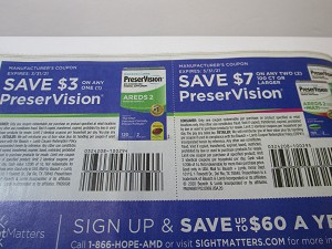 15 Coupons $3/1 PreserVision + $7/2 100ct PreserVision 3/31/2021