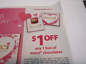 15 Coupons $1/1 Merci Chocolates 3/7/2021
