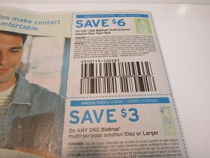 15 Coupons $6/1 Biotrue 10oz Twin Pack Solution + $3/1 Biotrue 10oz Solution