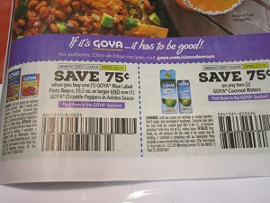 15 Coupons $.75/1 Goya Blue Label Pinto Beans and 1 Goya Chipolte Peppers in Adobo Sauce + $.75/1 Goya Coconut Waters 5/31/2021