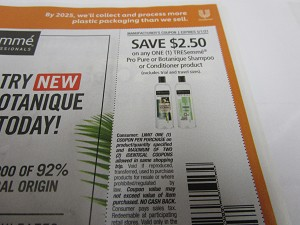 15 Coupons $2.50/1 Tresemme Pro Pure or Botanique Shampoo or Conditioer 5/1/2021