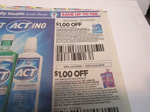 15 Coupons $1/1 Act + $1/1 Act Kids 5/22/2021