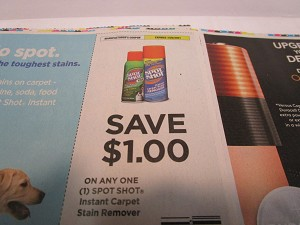 15 Coupons $1/1 Spot Shot Instant Carpet Stain Remover 7/25/2021